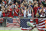28 May 2008: United States fans. The England Men's National Team defeated the United States Men's National Team 2-0 at Wembley Stadium in London, England in an international friendly soccer match.