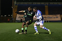 Reuben Reid of Forest Green Rovers and Ben Dickenson of Colchester United during Colchester United vs Forest Green Rovers, Sky Bet EFL League 2 Football at the JobServe Community Stadium on 12th March 2019