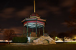 Gazebo at night, Wakefield, MA