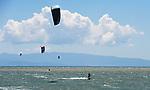 NELSON, NEW ZEALAND - DECEMBER 2: Kite boarding on December 2, 2017 in Nelson, New Zealand. (Photo by: Chris Symes/Shuttersport Limited)
