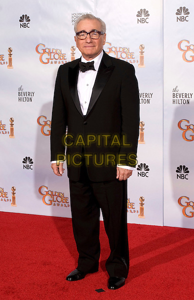MARTIN SCORSESE - recipient of the Cecil B. DeMille Award .at the 67th Annual Golden Globe Awards at the Beverly Hilton in Beverly Hills, CA, USA, January 17th 2010..Globes pressroom press room full length black tux tuxedo bow tie glasses .CAP/AW/HFPA.Supplied by Anita Weber/Capital Pictures.