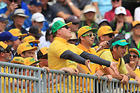 Australian supporters at the 1st during the Second Round - Foursomes of the Presidents Cup 2019, Royal Melbourne Golf Club, Melbourne, Victoria, Australia. 13/12/2019.<br /> Picture Thos Caffrey / Golffile.ie<br /> <br /> All photo usage must carry mandatory copyright credit (© Golffile | Thos Caffrey)