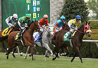 Daisy Devine and James Graham win the 24th running of the Jenny Wiley Grade 1  April 14, 2012.
