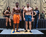 Las Vegas 02-12-2020: Reid Boxing inaugural Professional Boxing Weighin, at the Westgate Las Vegas with 5 exciting cards BRITTON NORWOOD vs ANDREI ODINTSEV