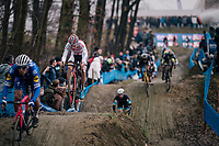 MEEUSEN Tom (BEL/Corendon-Circus) coming down the dirt jump section<br /> <br /> GP Sven Nys (BEL) 2019<br /> DVV Trofee<br /> ©kramon