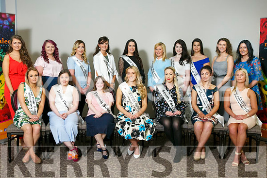 Looking for the 2017 Kerry Rose at the Kerry Rose Gathering Info Day at the Rose Hotel on Monday. Pictured Kerry Rose 2016 Danielle O'Sullivan with some of the Contestants For The Kerry Rose 2017