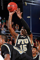 18 November 2010:  FIU's Eric Frederick (15) shoots in the second half as the Florida State University Seminoles defeated the FIU Golden Panthers, 89-66, at the U.S. Century Bank Arena in Miami, Florida.