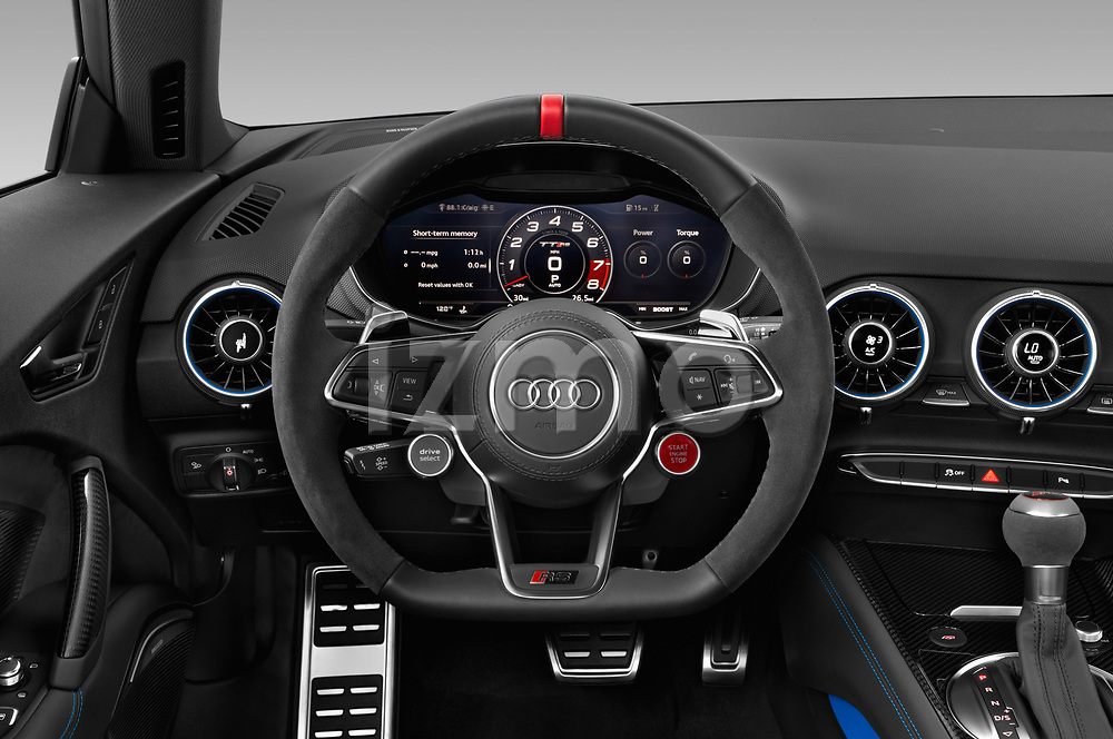 Car pictures of steering wheel view of a 2019 Audi TT RS Base 3 Door Coupe