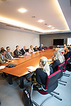 """BRUSSELS - BELGIUM - 08 October 2019 -- Student Sara Murto visiting the European Parliament and """"taking over"""" from MEP Eero Heinäluoma. Meeting of the Finnish Social Democrats of the European Parliament. -- PHOTO: Juha ROININEN / EUP-IMAGES"""