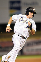 Lake County Captains shortstop Casey Frawley (4) during a game vs. the Bowling Green Hot Rods at Classic Park in Eastlake, Ohio;  August 20, 2010.   Lake County defeated Bowling Green 5-3.  Photo By Mike Janes/Four Seam Images