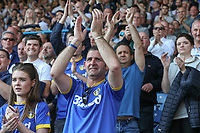 Leeds United fans applaud their team after the final whistle<br /> <br /> Photographer Alex Dodd/CameraSport<br /> <br /> The EFL Sky Bet Championship - Leeds United v Preston North End - Saturday 8th April 2017 - Elland Road - Leeds<br /> <br /> World Copyright &copy; 2017 CameraSport. All rights reserved. 43 Linden Ave. Countesthorpe. Leicester. England. LE8 5PG - Tel: +44 (0) 116 277 4147 - admin@camerasport.com - www.camerasport.com