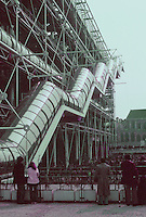Renzo Piano and Richard Rogers: Centre Pompidou, Paris. Escalator.