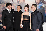HOLLYWOOD, CA - FEBRUARY 15: (L-R) Actor Pedro Pascal, director Zhang Yimou, and actors Jing Tian and Matt Damon arrive at the premiere of Universal Pictures' 'The Great Wall' at TCL Chinese Theatre IMAX on February 15, 2017 in Hollywood, California.