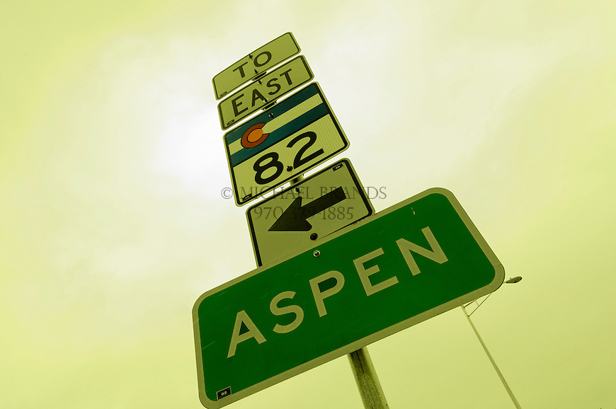 Aspen via Highway 82. Colorado. © Michael Brands. 970-379-1885.