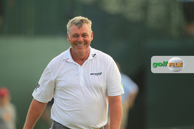 Darren Clarke (NIR) finishes his match on the 18th green during Friday's Round 2 of the 94th PGA Golf Championship at The Ocean Course, Kiawah Island, South Carolina, USA 9th August 2012 (Photo Eoin Clarke/www.golffile.ie)