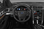 Car pictures of steering wheel view of a 2017 Ford Explorer Limited 5 Door SUV Steering Wheel
