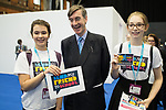 © Joel Goodman - 07973 332324 . 02/10/2017. Manchester, UK. JACOB REES-MOGG with supporters of Send my friend to school campaign . The second day of the Conservative Party Conference at the Manchester Central Convention Centre . Photo credit : Joel Goodman