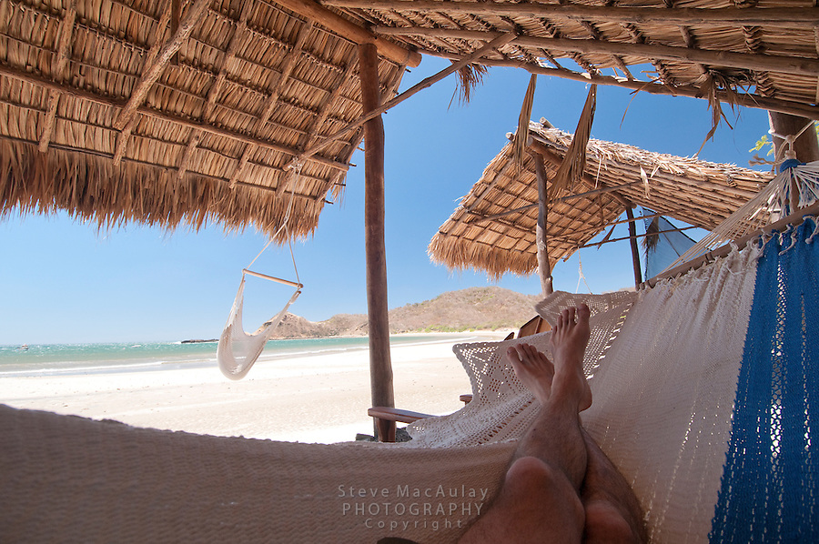 POV shot from hammock looking out to ocean from cabana,  Morgan's Rock Hacienda and Eco Lodge, Nicaragua