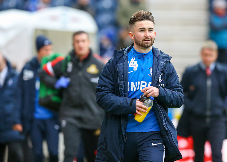 Preston North End's Sean Maguire takes his place on the bench<br /> <br /> Photographer Alex Dodd/CameraSport<br /> <br /> The Emirates FA Cup Third Round - Preston North End v Doncaster Rovers - Sunday 6th January 2019 - Deepdale Stadium - Preston<br />  <br /> World Copyright © 2019 CameraSport. All rights reserved. 43 Linden Ave. Countesthorpe. Leicester. England. LE8 5PG - Tel: +44 (0) 116 277 4147 - admin@camerasport.com - www.camerasport.com