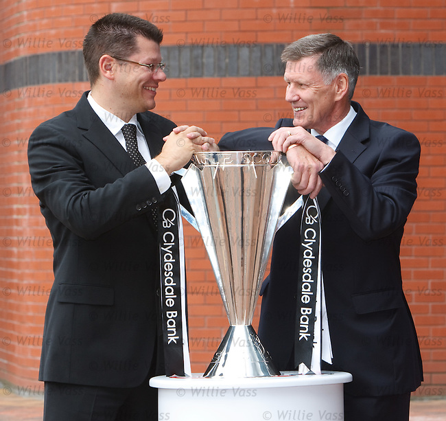 Neil Doncaster, new SPL Chief Executive with Lex Gold SPL chairman