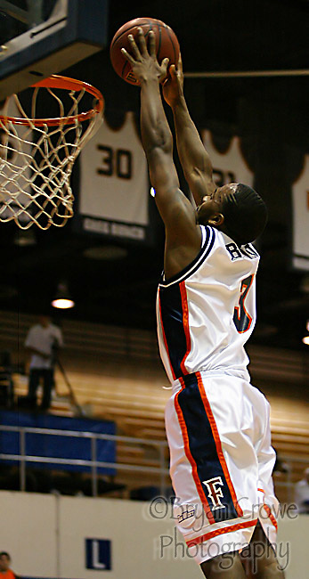"""December 16, 2006,Fullerton, Ca; The CSUF Titans defeated the Bethune-Cookman Warriors 94-65.The Titan's Bobby Brown had a """" Career """" night scoring 47 points on 17-20 from the Floor. The point total and 3 pointers made (11) were both school records. The 47 points is also 2nd all time in the Big West."""