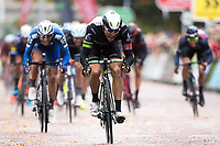 Picture by Alex Whitehead/SWpix.com - 10/09/2017 - Cycling - OVO Energy Tour of Britain - Stage 8, Worcester to Cardiff - Edvald Boasson Hagen of Dimension Data wins Stage 8 in Cardiff.