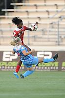 Boyds, MD -Saturday August 26, 2017: Julie Ertz, Estelle Johnson during a regular season National Women's Soccer League (NWSL) match between the Washington Spirit and the Chicago Red Stars at Maureen Hendricks Field, Maryland SoccerPlex.