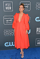 SANTA MONICA, USA. January 12, 2020: Olivia Wilde at the 25th Annual Critics' Choice Awards at the Barker Hangar, Santa Monica.<br /> Picture: Paul Smith/Featureflash