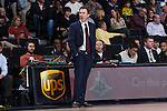 Minnesota Golden Gophers head coach Richard Pitino during first half action against the Wake Forest Demon Deacons at the LJVM Coliseum on December 2, 2014 in Winston-Salem, North Carolina.  The Golden Gophers defeated the Demon Deacons 84-69. (Brian Westerholt/Sports On Film)