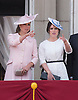 KATE AND PRINCESS EUGENIE<br /> appear on the balcony of Buckingham Palace to watch the Royal Air Force Flypast as part of the Trooping of the Colour, London_15th June 2013<br /> The annual event marks the Queen's Official Birthday.<br /> Photo Credit: &copy;Dias/NEWSPIX INTERNATIONAL<br /> <br /> **ALL FEES PAYABLE TO: &quot;NEWSPIX INTERNATIONAL&quot;**<br /> <br /> PHOTO CREDIT MANDATORY!!: NEWSPIX INTERNATIONAL<br /> <br /> IMMEDIATE CONFIRMATION OF USAGE REQUIRED:<br /> Newspix International, 31 Chinnery Hill, Bishop's Stortford, ENGLAND CM23 3PS<br /> Tel:+441279 324672  ; Fax: +441279656877<br /> Mobile:  0777568 1153<br /> e-mail: info@newspixinternational.co.uk