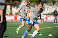 Seattle, Washington - Saturday, July 2nd, 2016: Boston Breakers defender Julie King (8) warms up prior to a regular season National Women's Soccer League (NWSL) match between the Seattle Reign FC and the Boston Breakers at Memorial Stadium. Seattle won 2-0.