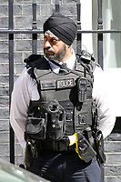 Sikh police officer guarding the house of the Prime Minister, 10 Downing Street in London, England, UK on June 06, 2018<br /> CAP/GOL<br /> &copy;GOL/Capital Pictures
