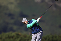 Ronan Mullarney from Ireland on the 9th tee during Round 2 Foursomes of the Men's Home Internationals 2018 at Conwy Golf Club, Conwy, Wales on Thursday 13th September 2018.<br /> Picture: Thos Caffrey / Golffile<br /> <br /> All photo usage must carry mandatory copyright credit (&copy; Golffile | Thos Caffrey)