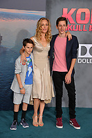 Kim Raver, Luke Boyer &amp; Leo Boyer at the premiere for &quot;Kong: Skull Island&quot; at Dolby Theatre, Los Angeles, USA 08 March  2017<br /> Picture: Paul Smith/Featureflash/SilverHub 0208 004 5359 sales@silverhubmedia.com