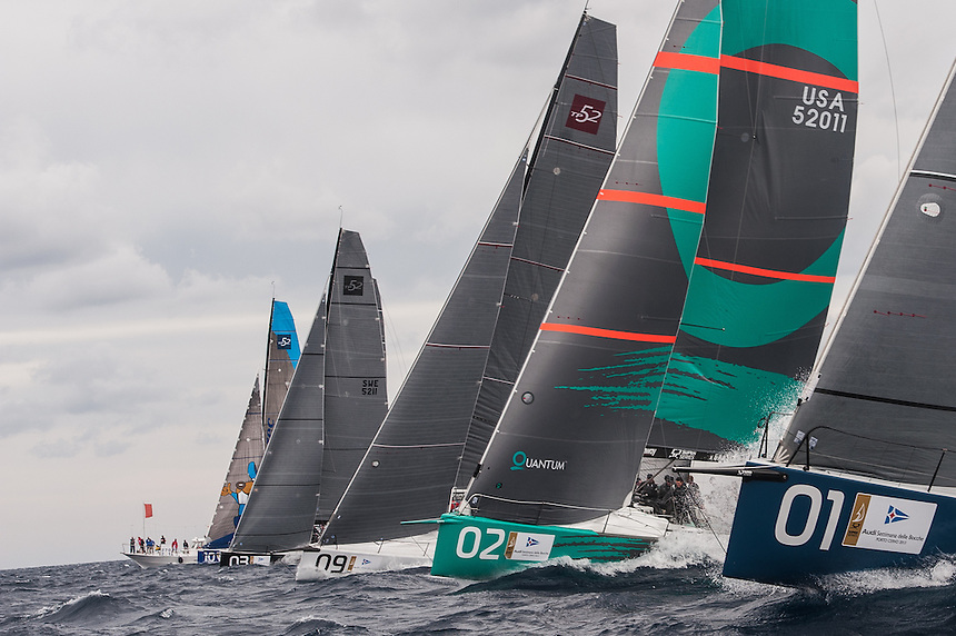 PORTO CERVO, ITALY - 10 SEP 2013:   Day one of Audi Settimana delle Bocche at Yacht Club Costa Smeralda on September 10th 2013 in Porto Cervo, Italy. Photo by Xaume Olleros for 52 Super Series