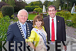 Pictured at the Kerry County Council Barbeque for rhe Rose of Tralee Contestants at the Pavillion in the Ballygarry House Hotel from Left: Mayor of Kerry, Tim Buckley, Kerry Rose,  Si?le Ni? Dheargain and County Manager, Tom Curran.