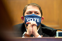 United States Representative Ruben Gallego (Democrat of Arizona) is seen during a House Natural Resources Committee hearing on Monday, June 29, 2020 to discuss the recent incident with U.S. Park Police removing protesters and journalists on June 1st at St. John's Episcopal Church near the White House for President Trump to conduct a photo op.<br /> Credit: Bonnie Cash / Pool via CNP / MediaPunch