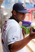 July 7th 2008:  Center fielder Fernando Martinez of the Binghamton Mets, Class-AA affiliate of the New York Mets, during a game at NYSEG Stadium in Binghamton, NY.  Photo by:  Mike Janes/Four Seam Images