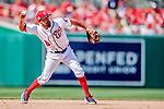 20 May 2018: Washington Nationals third baseman Anthony Rendon in action against the Los Angeles Dodgers at Nationals Park in Washington, DC. The Dodgers defeated the Nationals 7-2, sweeping their 3-game series. Mandatory Credit: Ed Wolfstein Photo *** RAW (NEF) Image File Available ***