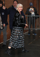 NEW YORK, NY - JANUARY 12: Helen Mirren seen after an appearance on ABC's The View  promoting her new movie The Leisure Seeker in New York City on January 12, 2018. <br /> CAP/MPI/RW<br /> &copy;RW/MPI/Capital Pictures