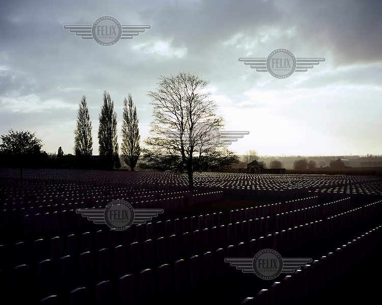 Tyne Cot, the biggest Commonwealth War Cemetery in the world where almost 12,000 men are laid to rest.