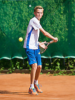August 4, 2014, Netherlands, Dordrecht, TC Dash 35, Tennis, National Junior Championships, NJK,  Jurre Seegers (NED)<br /> Photo: Tennisimages/Henk Koster