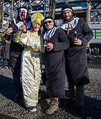 2nd February 2019, Murrayfield Stadium, Edinburgh, Scotland; Guinness Six Nations Rugby Championship, Scotland versus Italy; Italian fans enjoy a drink pre match
