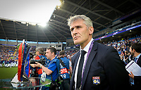 20170601 - CARDIFF , WALES : Lyon's headcoach Gerard Precheur pictured ahead of a womensoccer match between the teams of  Olympique Lyonnais and PARIS SG, during the final of the Uefa Women Champions League 2016 - 2017 at the Cardiff City Stadium , Cardiff - Wales - United Kingdom , Thursday 1  June 2017 . PHOTO SPORTPIX.BE | DAVID CATRY