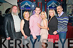 Celebrating the Engagement of Kevin Kelliher (Abbeyfeale) and Amanda Lane (Tournafulla) in Sullivan's Bar Abbeyfeale on Saturday night were L-R Martin and Dettie Kelliher (Kevin's Parents), Kevin Kelliher (Abbeyfeale), Amanda Lane, Anne Lane (Amanda's Mother) and Christy Roche (Anne's partner, Tournafulla).