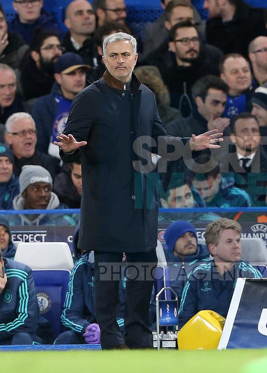 Chelsea's Jose Mourinho in action<br /> <br /> UEFA Champions League - Chelsea v FC Porto - Stamford Bridge - England - 9th December 2015 - Picture David Klein/Sportimage