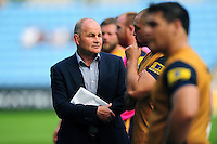 Bristol Rugby Director of Rugby Andy Robinson looks on after the match. Aviva Premiership match, between Wasps and Bristol Rugby on September 18, 2016 at the Ricoh Arena in Coventry, England. Photo by: Patrick Khachfe / JMP