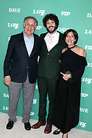 "LOS ANGELES - FEB 27:  Dave Burd, parents at the ""Dave"" Premiere Screening from FXX at the DGA Theater on February 27, 2020 in Los Angeles, CA"