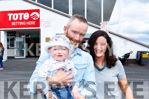 The O'Neill Family from Listowel at the Listowel Races on Sunday.  <br /> L-r, Shane, Eimear and James O'Neill.