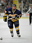 16 February 2008: Merrimack College Warriors' forward Pat Kimball, a Sophomore from Framingham, MA, in action against the University of Vermont Catamounts at Gutterson Fieldhouse in Burlington, Vermont. The Catamounts defeated the Warriors 2-1 for their second win of the 2-game weekend series...Mandatory Photo Credit: Ed Wolfstein Photo